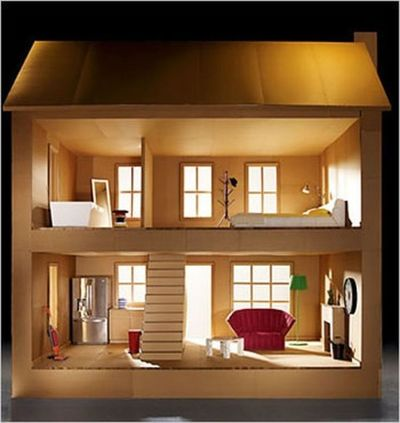 Unique Ideas - How to make a Barbie house out of cardboard